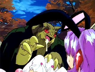 hottest Tiny anime girl caught by green green slimey monster with fat tentacles for free