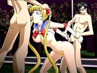 hentai Sailor Moon gets banged in her tight asshole fetish