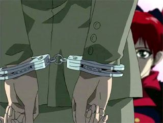 hottest Anime cutie in handcuffs gets forced to lick sweaty toes for free