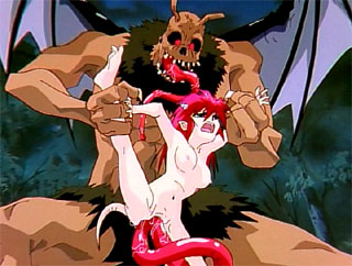 hottest Tiny anime girl double penetrated by huge monster for free