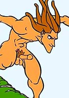 porn Tarzan fucking Jane in all her holes cartoon