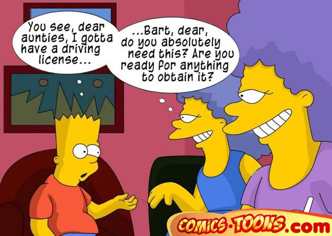 Aunt selma and bart simpson porn