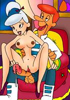 porn Dad fucks tight pussy of Judy Jetson