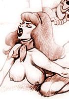 Retro porn artworks with a Scooby Doo sex