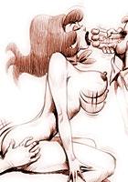 Belle Retro porn artworks with a Scooby Doo Pocahontas