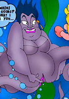 cartoon Comix! Little Mermaid and Ursula pics