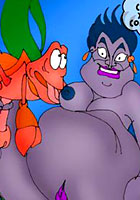 Toon party Comix! Little Mermaid and Ursula toon comics