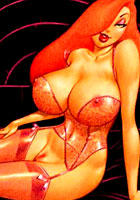 Belle Ginger Jessica Rabbit possing naked Pocahontas