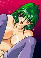 nude Girl masturbates herself to orgasm  anime