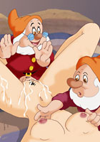 toon Snow White fucking with Seven Dwarfs sex