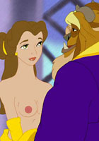 nude Wild sex with Beauty and The Beast  babe