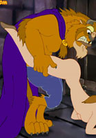 toon Wild sex with Beauty and The Beast sex