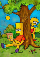Lisa Simposn Marge blows and fucks Bart's friend sex