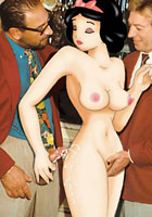 cartoon Snow White and two horny real men new