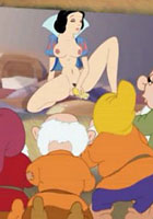 porn Snow White and two horny real men action