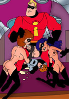 Incredibles in incredible porn orgy pics