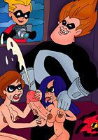 a Incredibles in incredible porn orgy toon pics